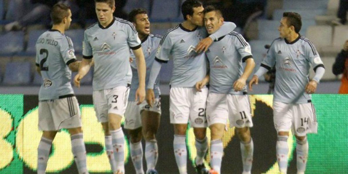 Fabián Orellana tuvo destacada participación en la victoria del Celta de Vigo