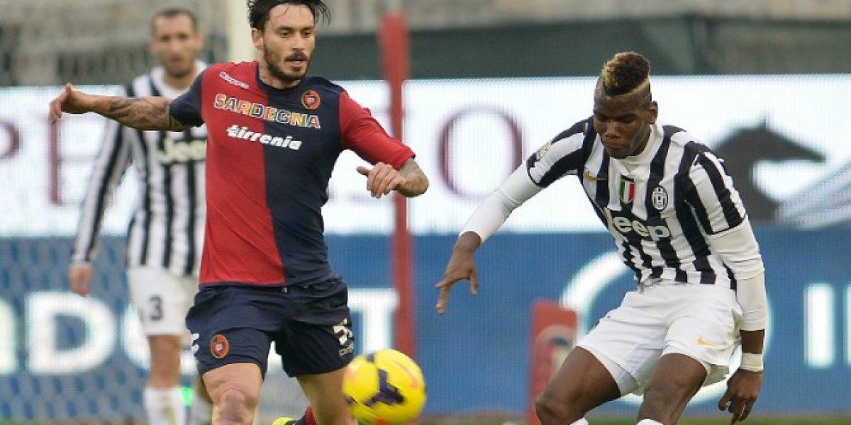 Juventus imparable: goleó al Cagliari de Pinilla que terminó expulsado