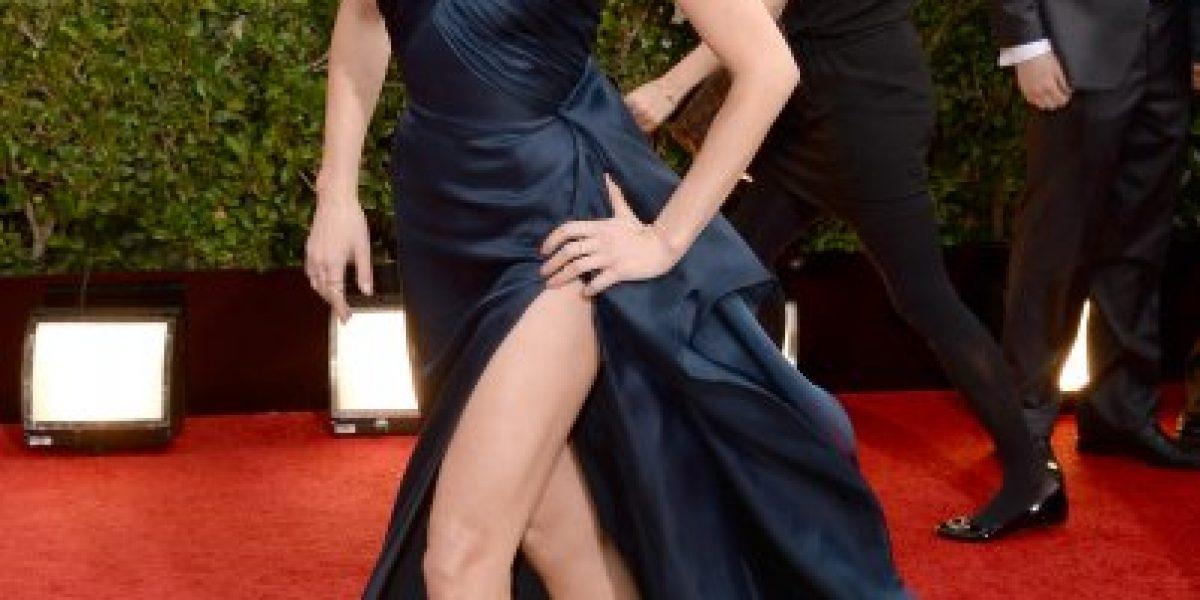 Amber Heard a lo Angelina Jolie en la alfombra roja de los