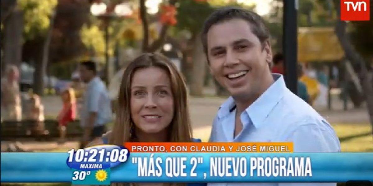 Claudia Conserva y José Miguel Viñuela confirman estreno de su nuevo programa