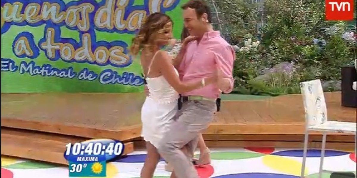 Jordi Castell se lució bailando bachata con Macarena Venegas en BDAT