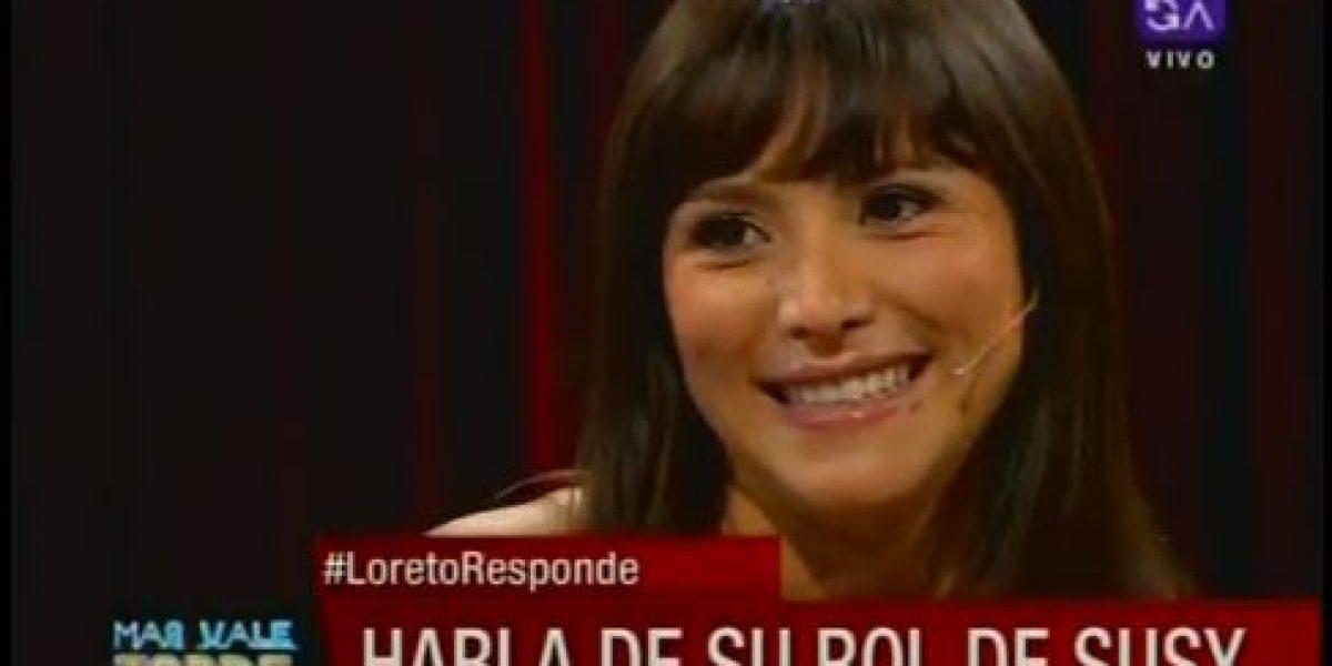 Loreto Aravena confiesa que le da vergüenza verse de