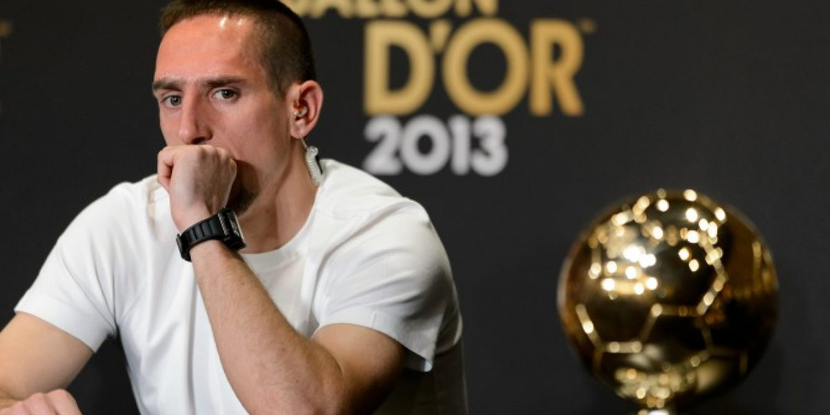 Franck Ribéry después de perder el Balón de Oro: