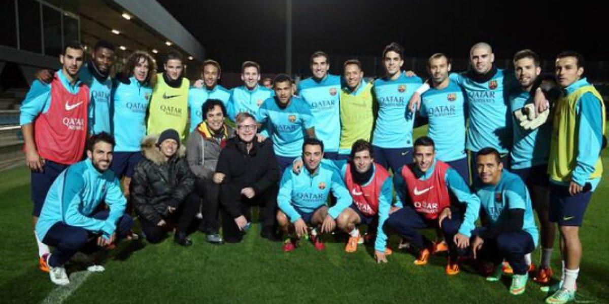 Barcelona y Alexis reciben especial visita en entrenamiento