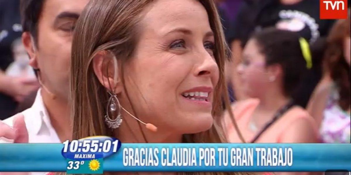 Claudia Conserva se despidió del BDAT