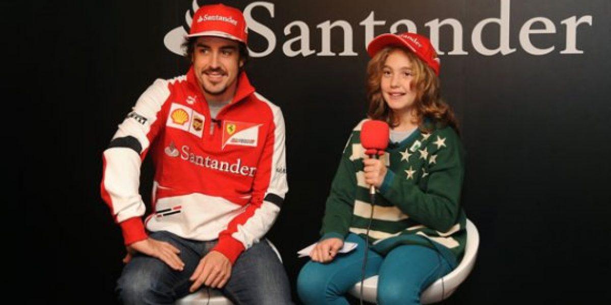 Fernando Alonso fue entrevistado por una niña