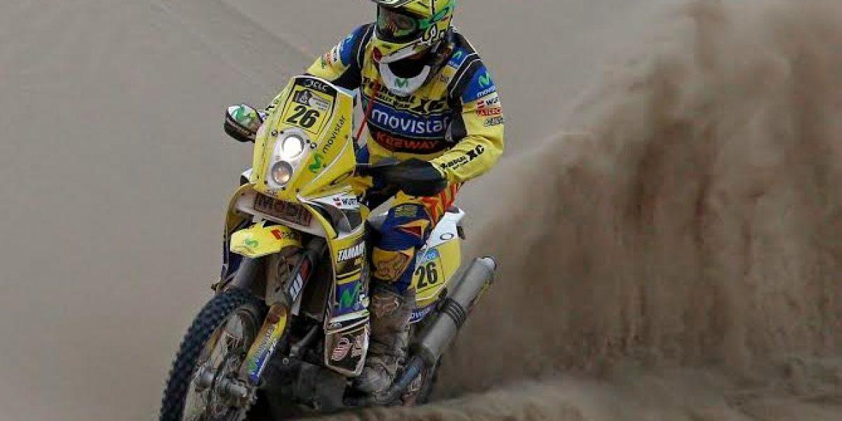 Daniel Gouet se mantiene en el top ten de las motos en el Dakar