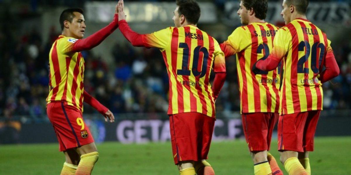 Barça avanza en la Copa con Messi como figura y con Neymar preocupando