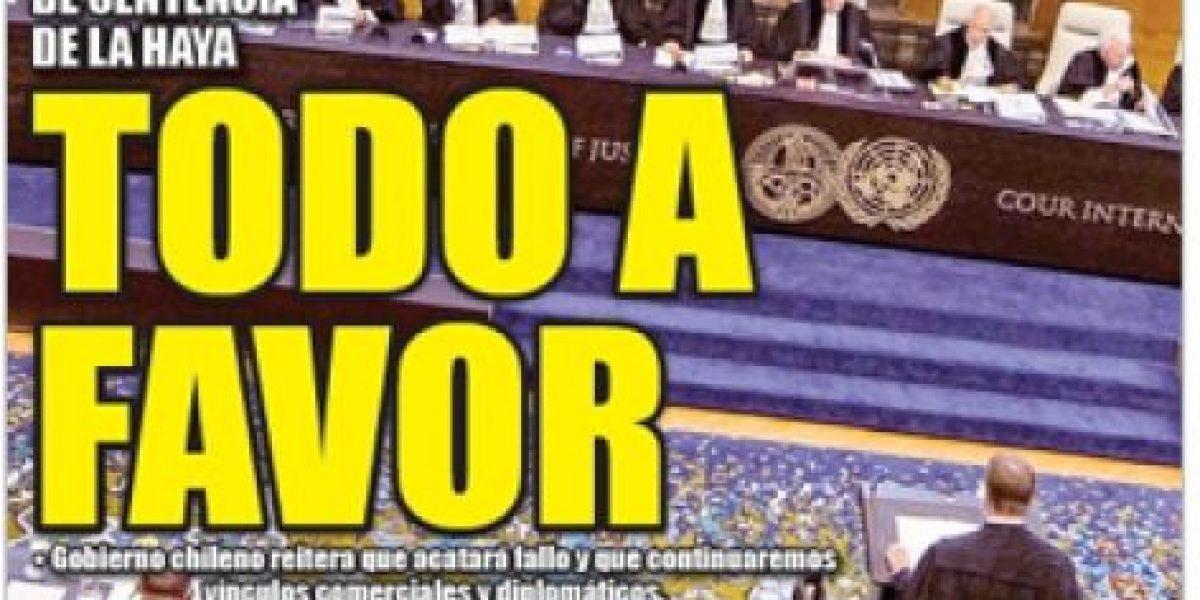 [Galería] La Haya: El tono triunfalista de algunas portadas en Perú a once días del fallo