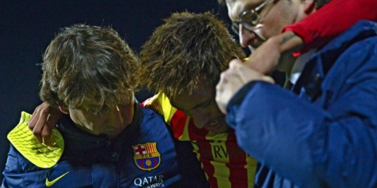 Confirmado: Neymar estará un mes de baja tras sufrir esguince en el tobillo