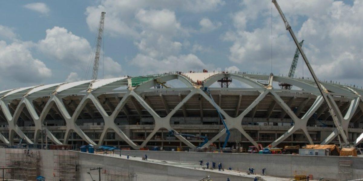 Nuevo incidente en estadio sede para el Mundial Brasil 2014 debido a fuertes lluvias