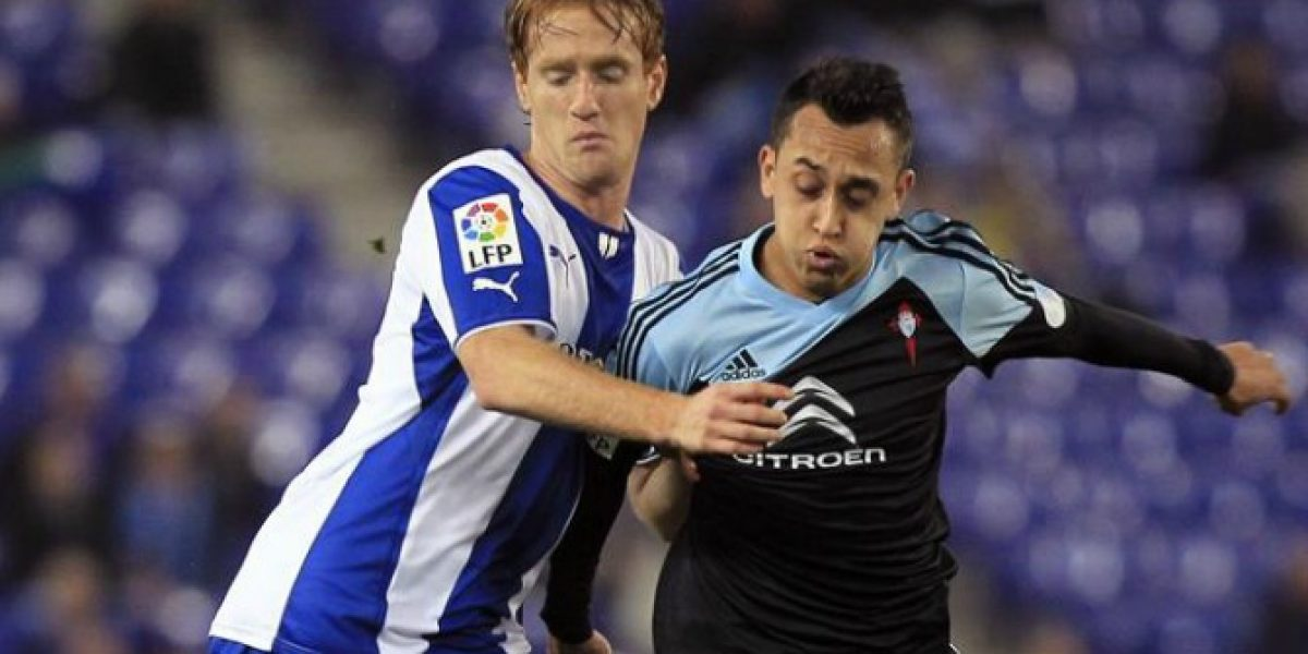 Celta de Vigo cae con Fabián Orellana en cancha en su visita al Español