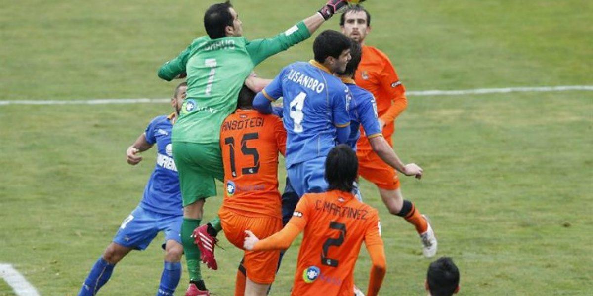 Claudio Bravo fue titular en empate de la Real Sociedad ante Getafe