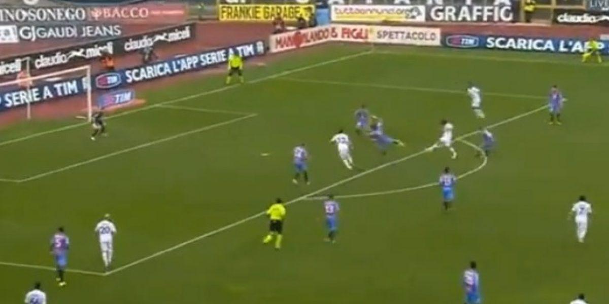 Video: Así fue el gol de Matías Fernández ante el Catania