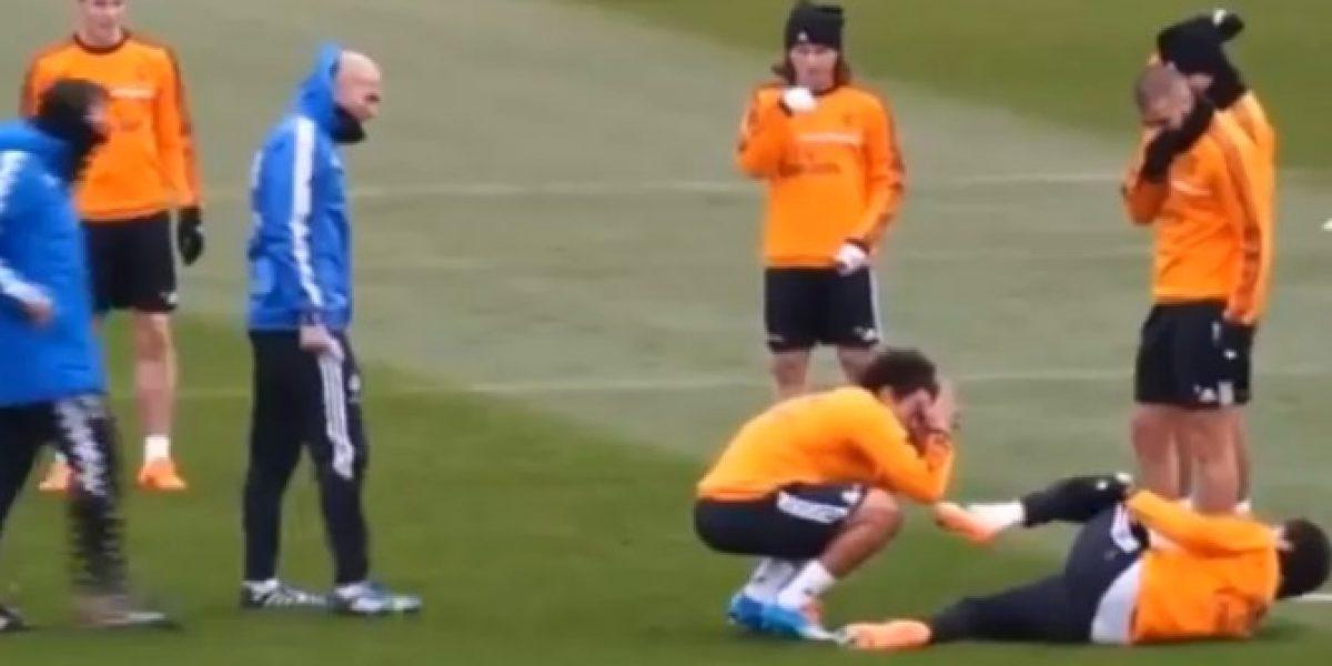 Video: Pepe le hace sufrida broma a sus compañeros en el Real Madrid