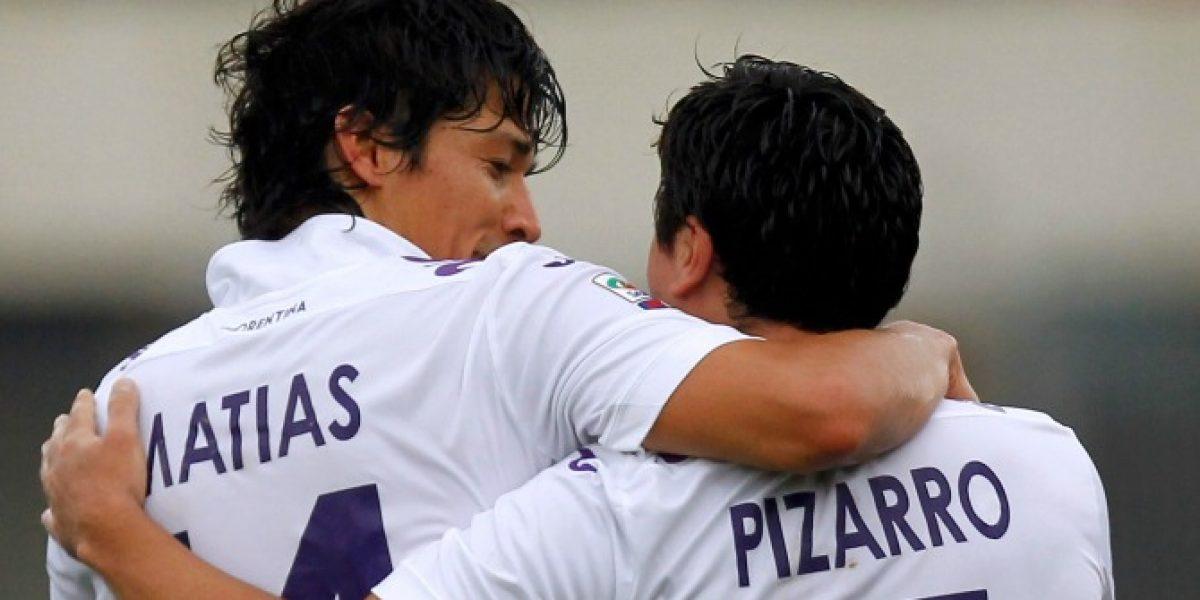 Matías Fernández abrió el camino en goleada de la Fiorentina por la Seria A