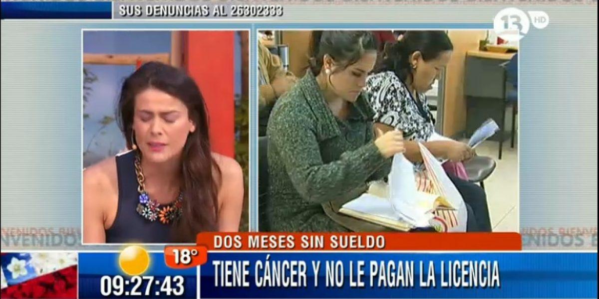 Tonka indignada al conocer caso de mujer con cáncer terminal a la que no le pagaban sus licencias