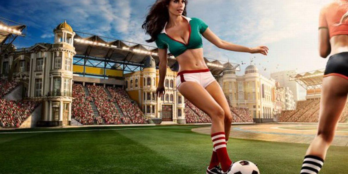 Las bellas y sensuales chicas que adornan el calendario del Mundial Brasil 2014