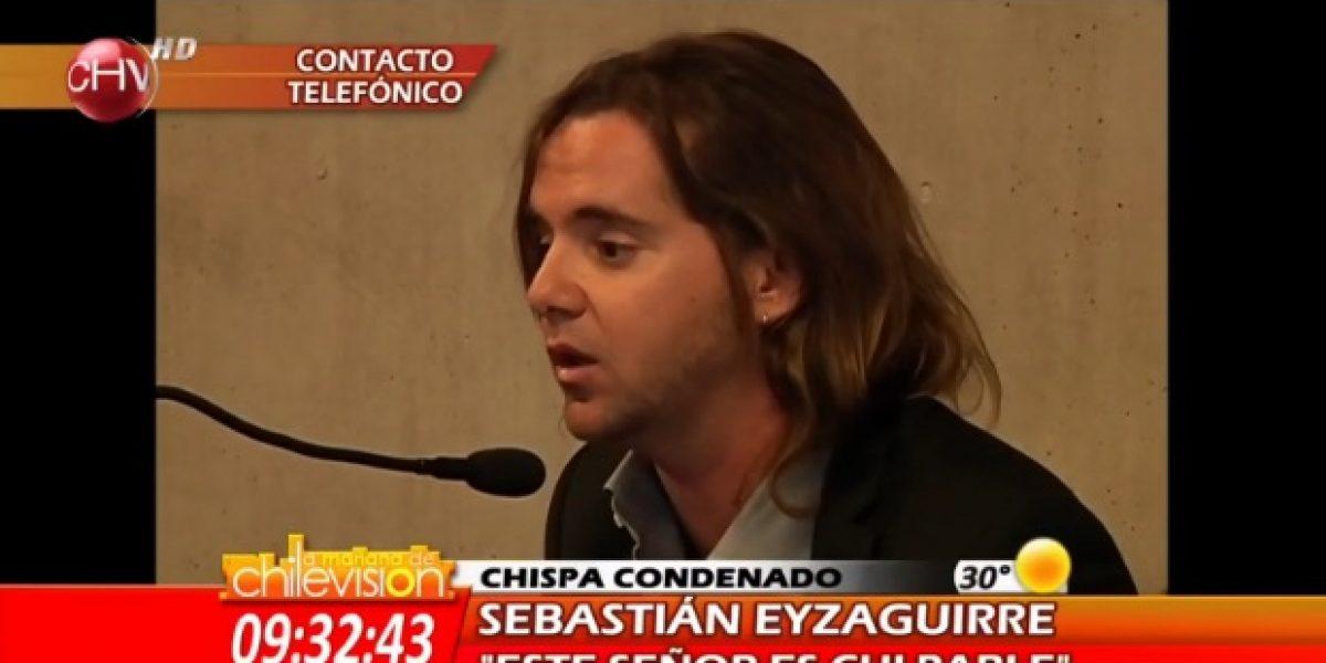 Chispa es condenado por amenazas en contra de Sebastián Eyzaguirre