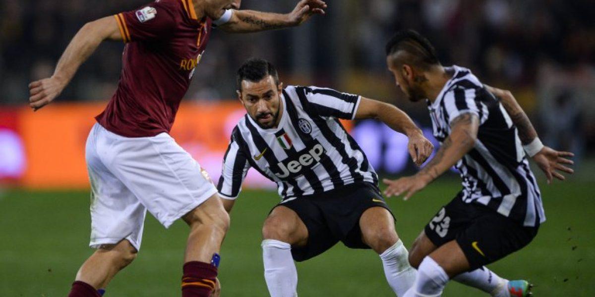 Juventus con Vidal e Isla en cancha fue eliminado de la Copa Italia ante AS Roma