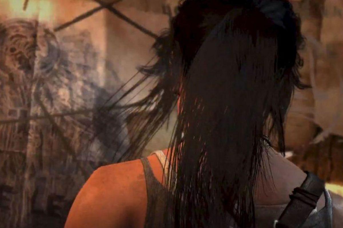 El cabello de Lara se mueve naturalmente. 2014. Foto:Tomb Raider / YouTube. Imagen Por: