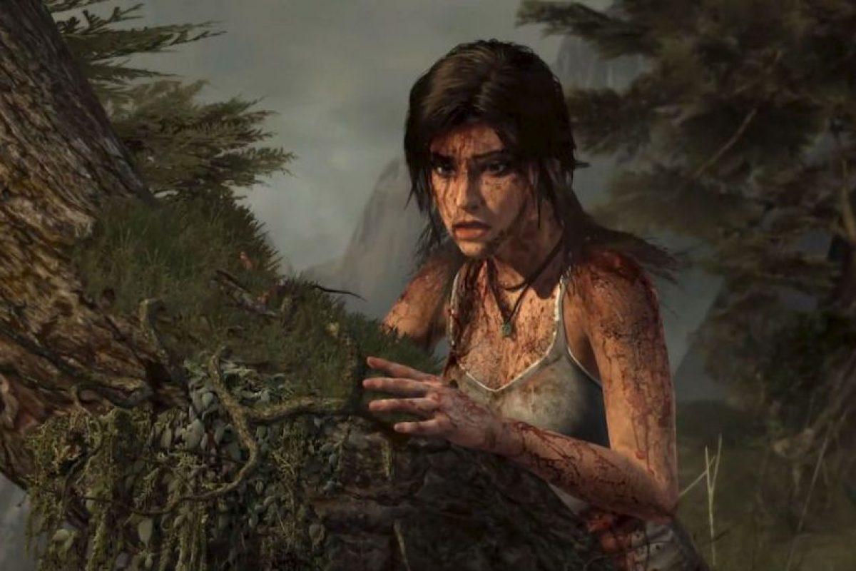Cutis manchada de sangre. 2014. Foto:Tomb Raider / YouTube. Imagen Por: