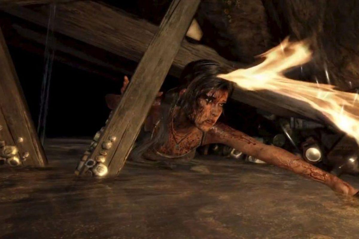 Croft en agua estancada. 2014. Foto:Tomb Raider / YouTube. Imagen Por: