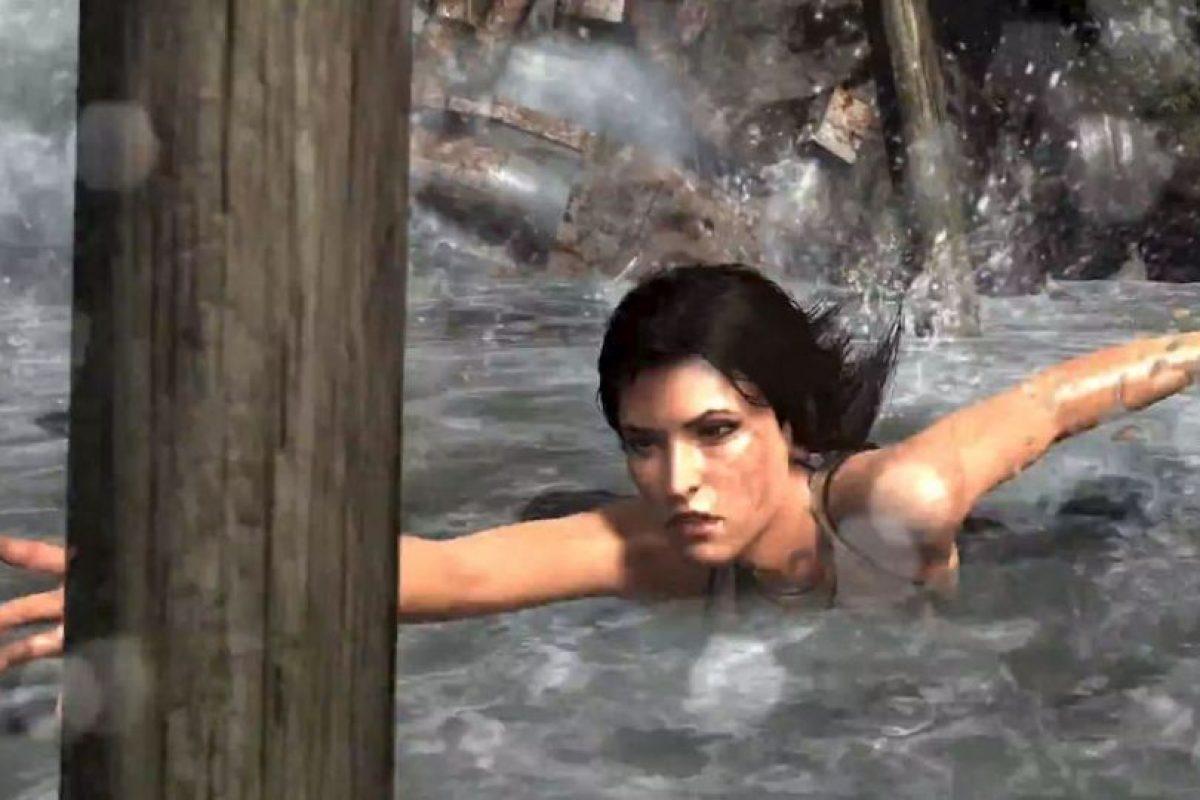 Lara en el agua. 2014. Foto:Tomb Raider / YouTube. Imagen Por: