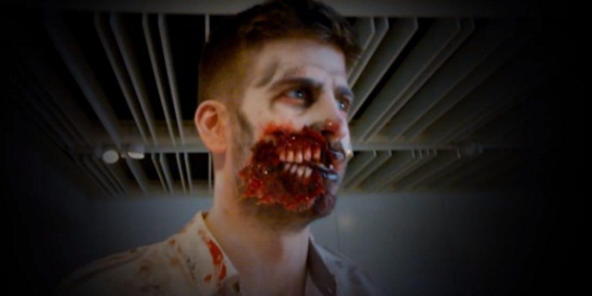 Video: ¡Del terror! Piqué se transforma en zombie por un día