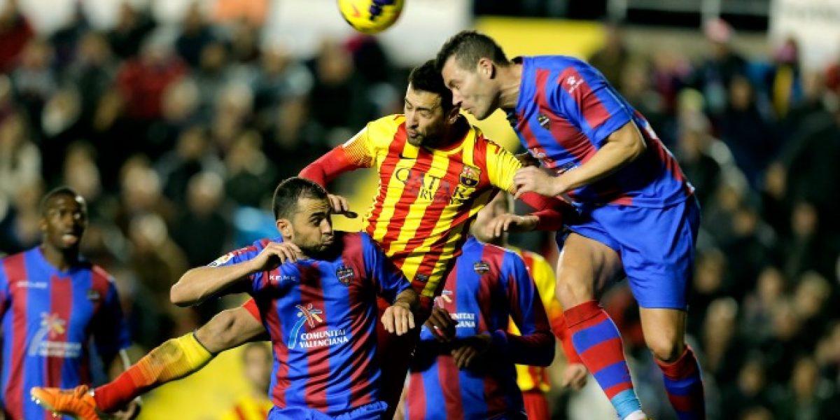Barcelona dio el primer golpe ante Levante en los cuartos de final de la Copa del Rey