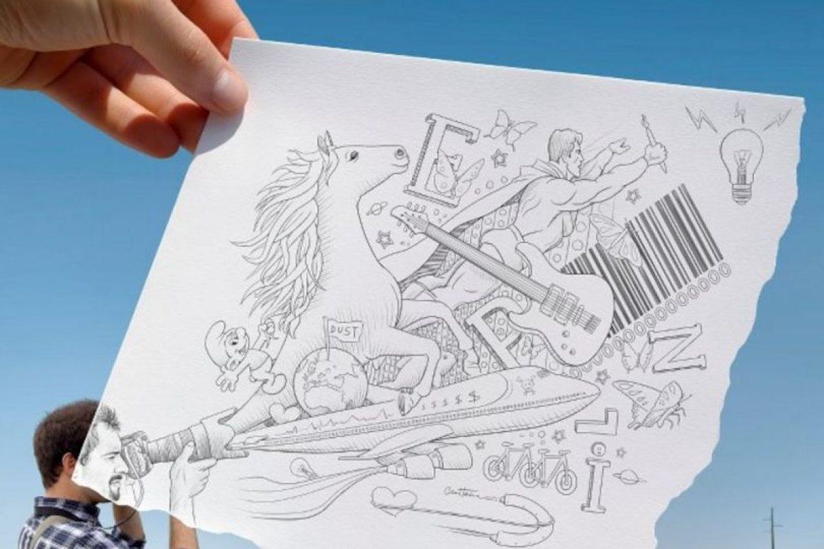 Ben estudió periodismo en Bélgica, en el Reino Unido cursó Bellas Artes además de Tecnologías de la Información y la comunicación en Holanda Foto:www.facebook.com/ben.heine.artist. Imagen Por: