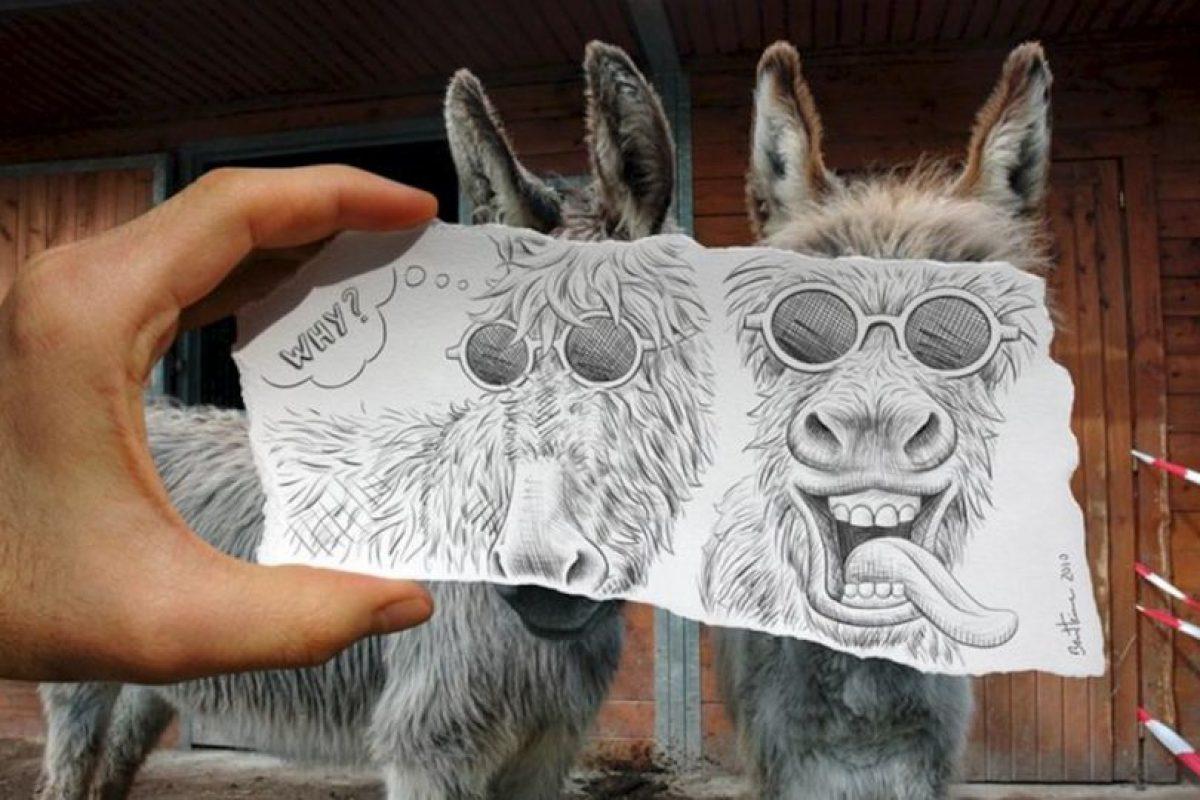 Otro ejemplo de su estilo Pencil vs Camera Foto:www.facebook.com/ben.heine.artist. Imagen Por: