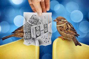 Aquí otro ejemplo de su estilo de foto y dibujo Foto:www.facebook.com/ben.heine.artist. Imagen Por: