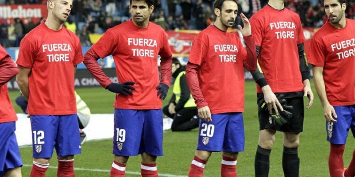 Galería: Jugadores del Atlético de Madrid no olvidan a Falcao y le enviaron su apoyo