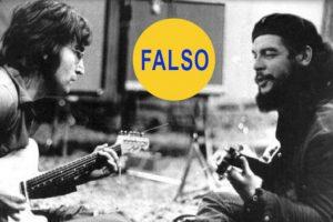 Alguien colocó la cara del Che sobre la del guitarrista Wayne 'Tex' Gabriel Foto:Twitter @HistoryInPics. Imagen Por: