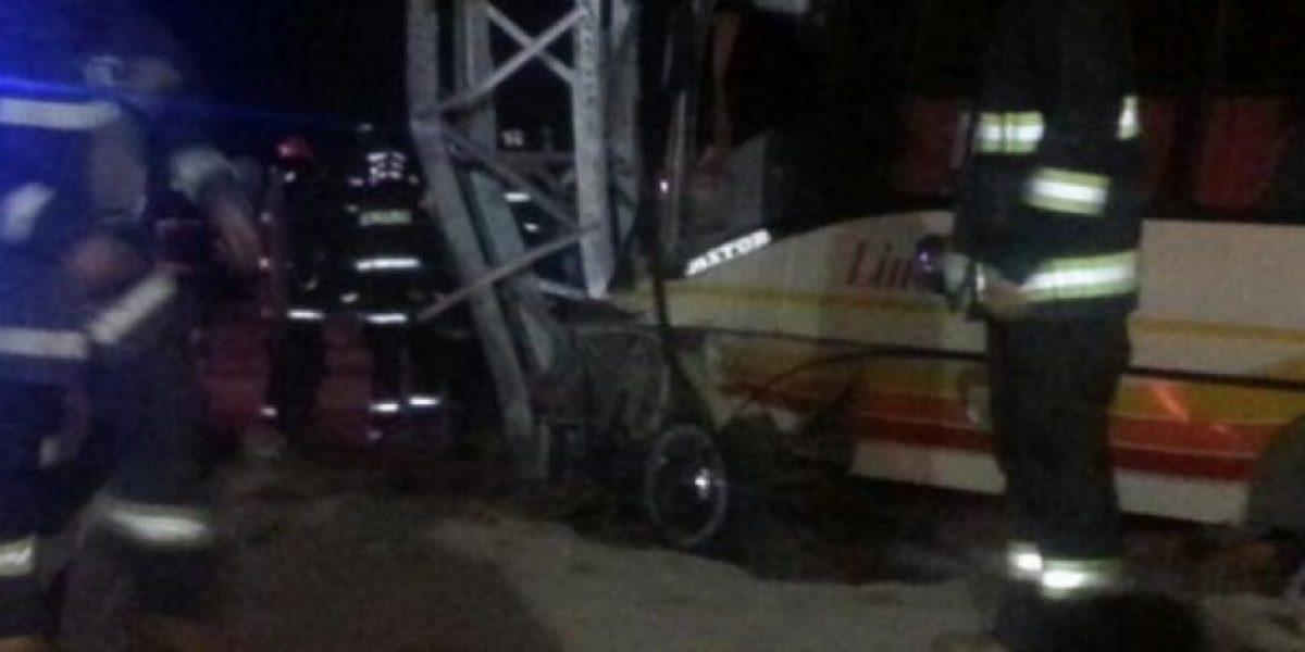 [FOTOS] Accidente de tránsito en Coquimbo dejó un muerto y nueve heridos