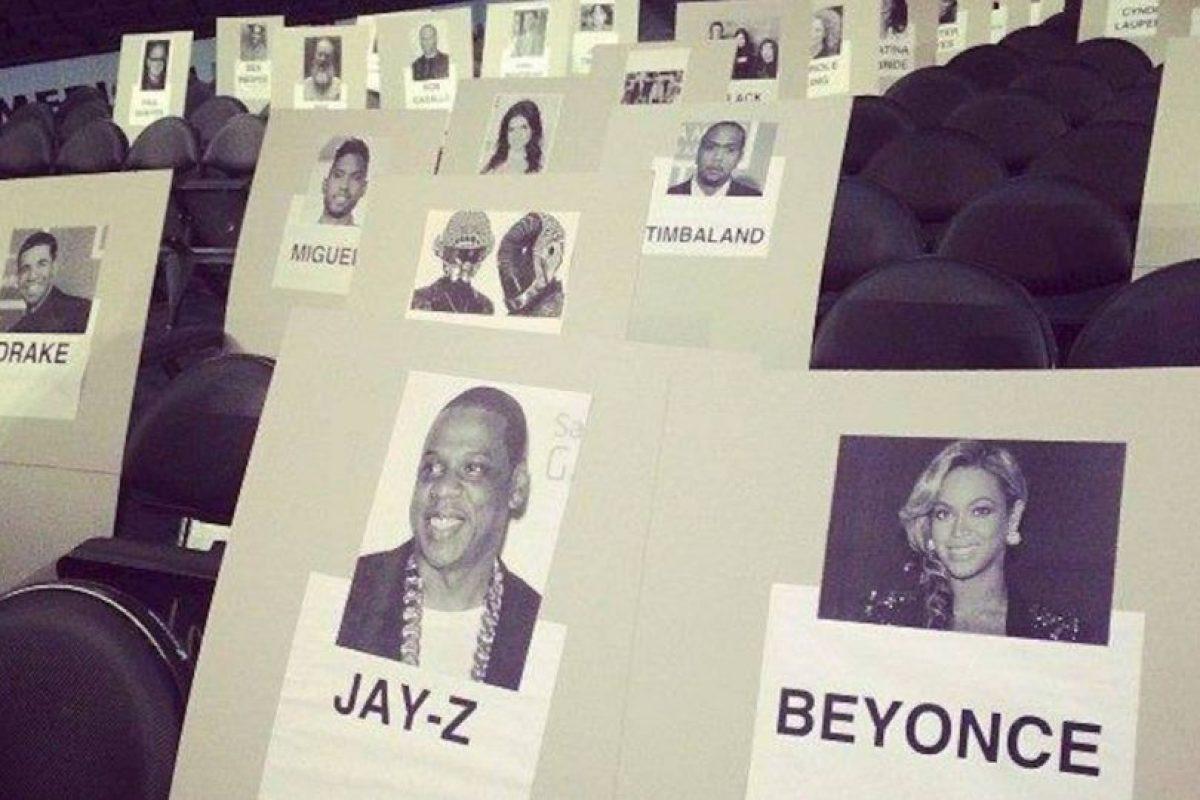 Podemos ver que Jay-Z y Beyoncé estarán sentados juntos. Foto:twitter.com. Imagen Por: