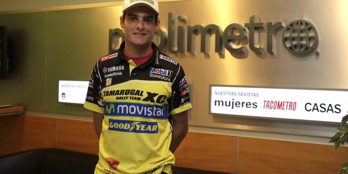 Casale en su visita a El Gráfico Chile: