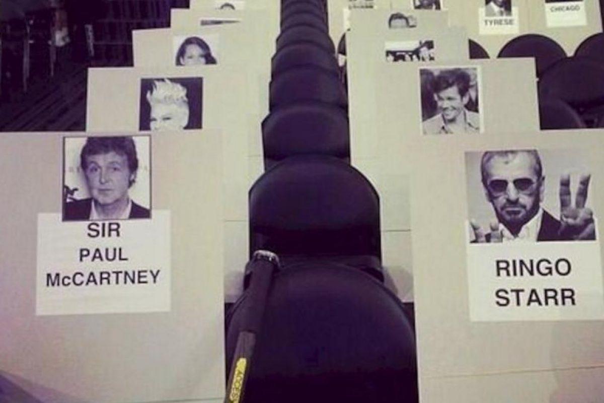 McCartney estará sentado junto a su colega y amigo Ringo Starr… uno de los momentos más esperados de la noche Foto:twitter.com. Imagen Por: