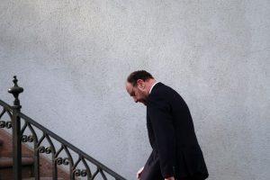 El Canciller Alfredo Moreno llegó hasta el Palacio de La Moneda, donde se reunió con el Presidente de la República y la Ministra Vocera de Gobierno para esperar el resultado del Fallo de La Haya por el conflicto limítrofe que Chile tiene con el Perú. Foto:Agencia Uno. Imagen Por:
