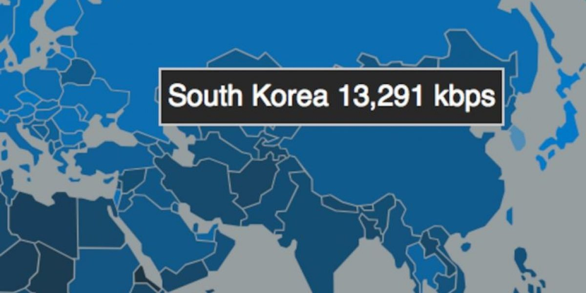 Los 10 países con la conexión a Internet más veloz