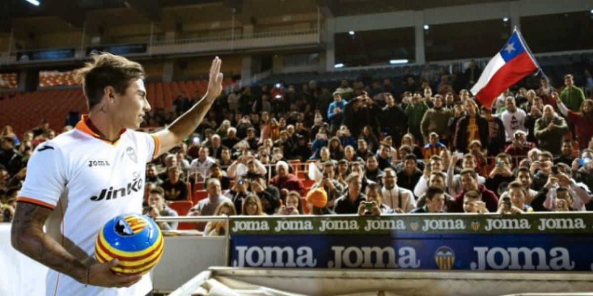 Vargas en su presentación en Valencia: