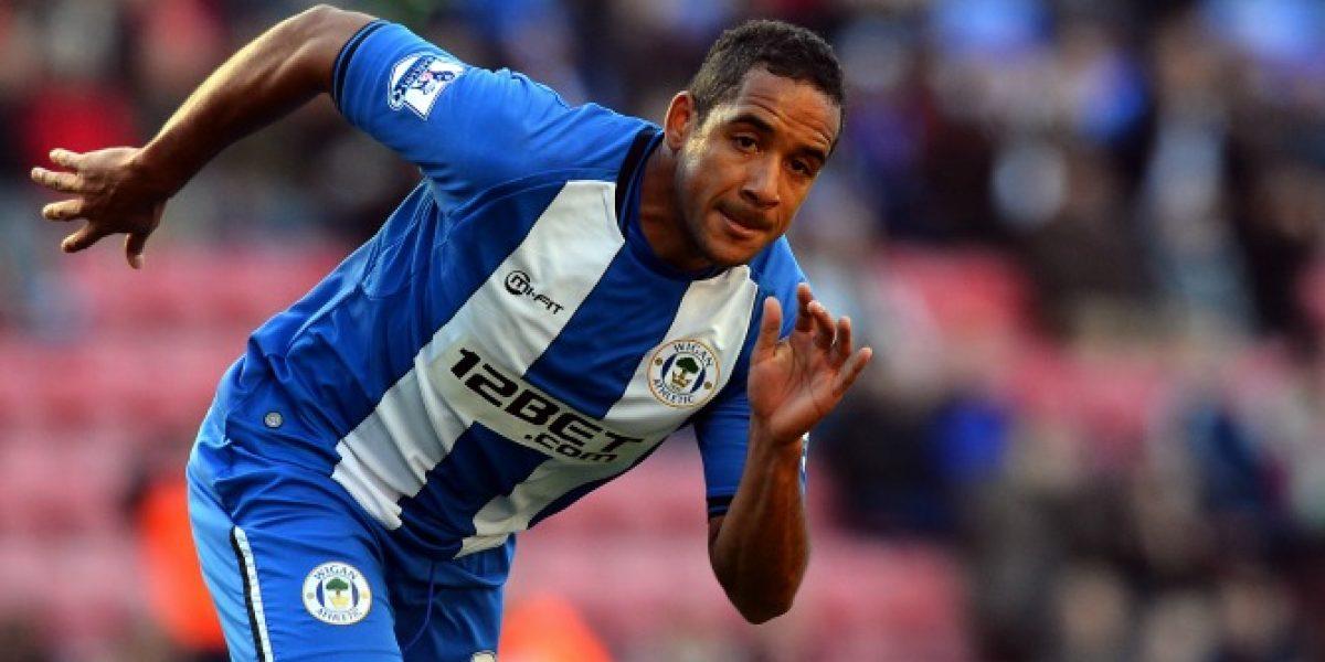 Beausejour jugó partido completo en empate de Wigan en Segunda División inglesa