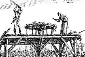 Grabado del uso de la rueda de tortura durante la Edad Media. Foto:wikipedia.org. Imagen Por: