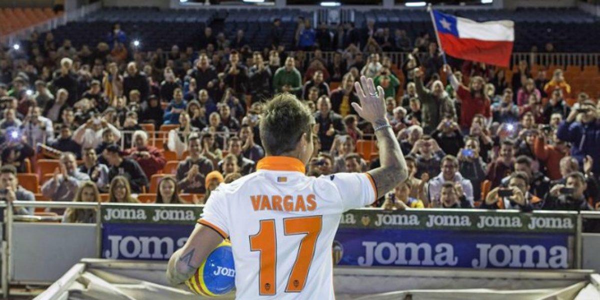 Eduardo Vargas y su ilusión en Valencia: