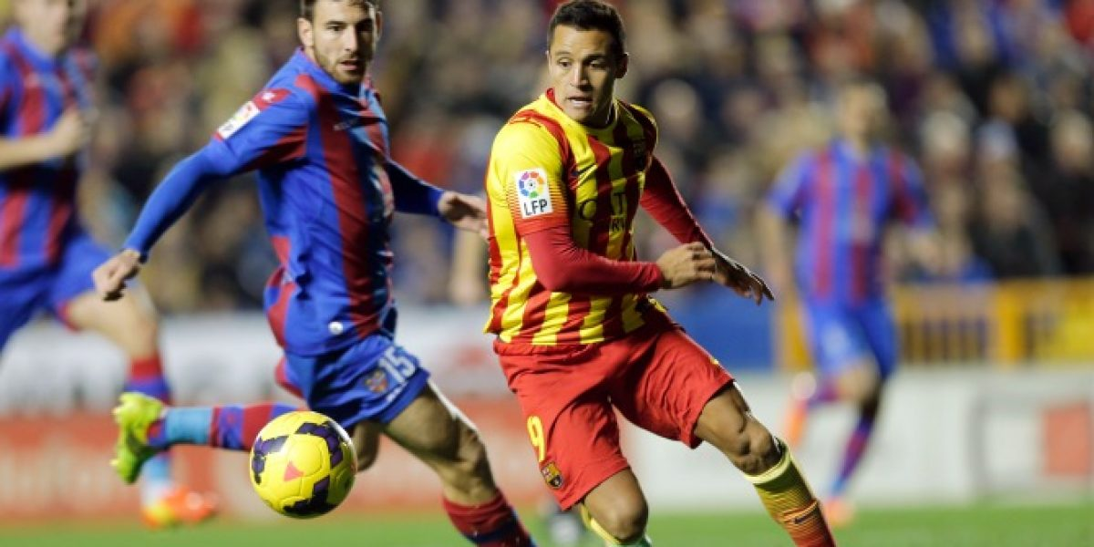En Directo: Barcelona golea a Levante con doblete de Alexis Sánchez