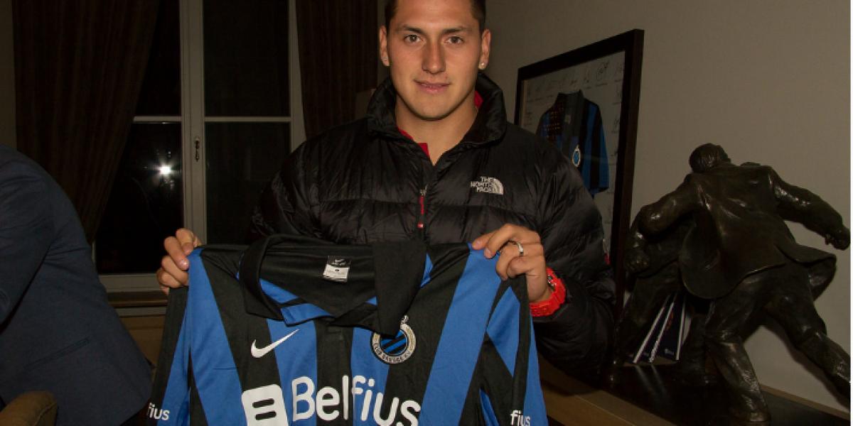 Castillo fue recibido en Bélgica con un brindis y ya tuvo su primer entrenamiento