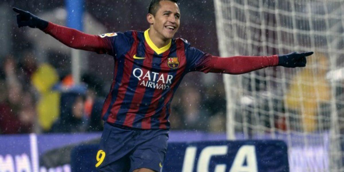 Alexis está a un gol de igualar su mejor registro en Barcelona