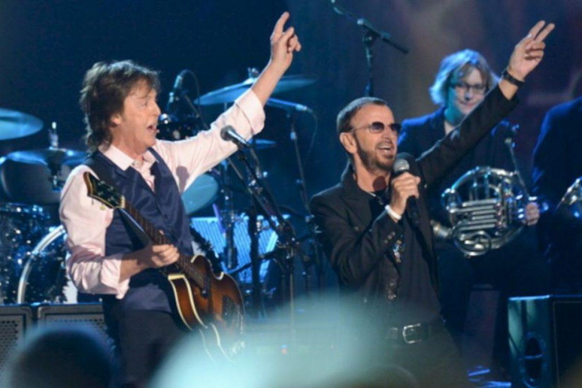 27 de enero de 2014. 50 años después, Paul y Ringo se reunen para grabar el especial que conmemorará los 50 años de Beatlemanía en Estados Unidos. Foto:gettyimages.com. Imagen Por:
