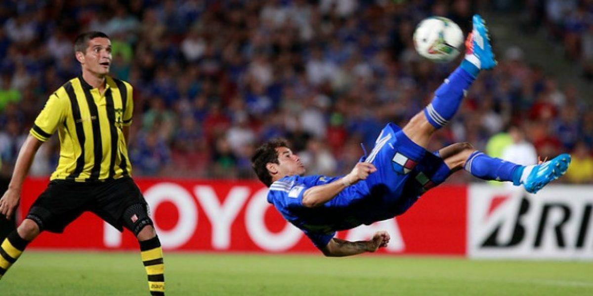 Mora agradeció en Twitter a los hinchas de la U tras su golazo: